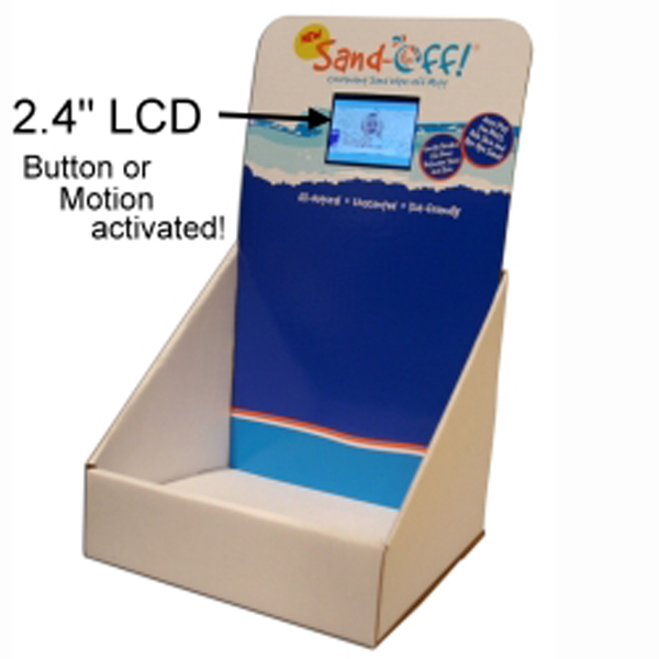 Cardboard Display Stand with LCD Screen