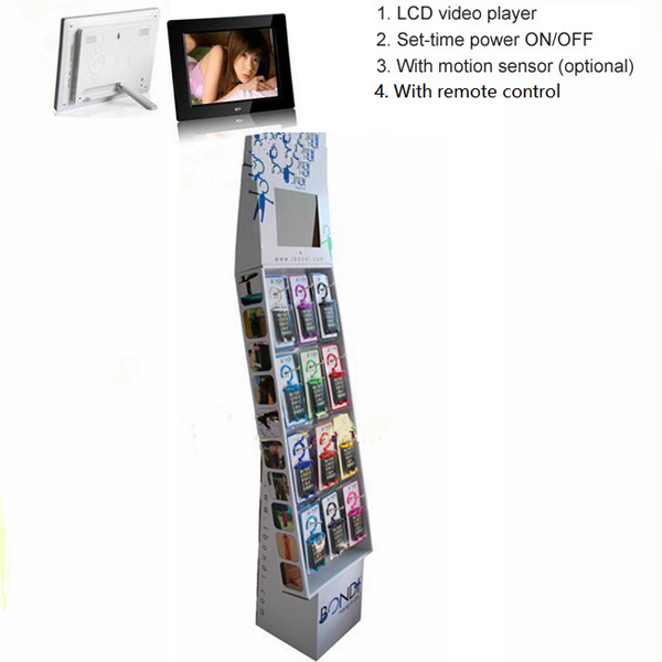 Tabletop LCD cardboard display stands
