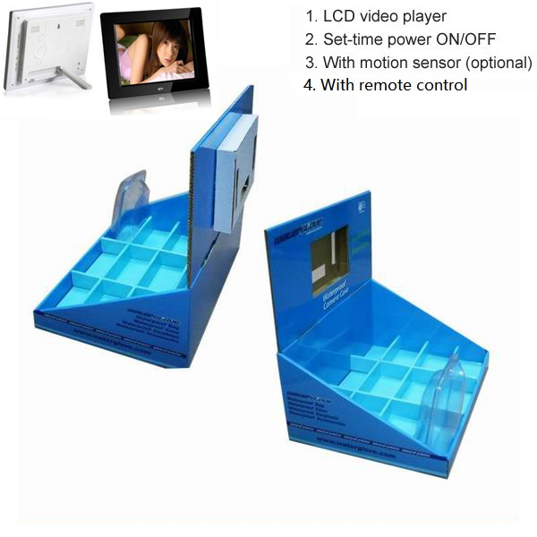 Retail pos display stand with lcd screen