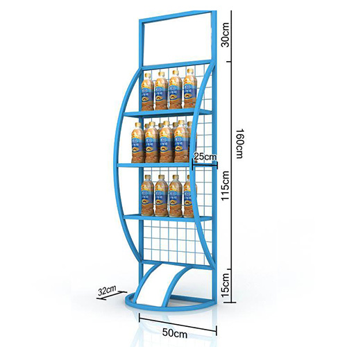 Drinks metal display shelf