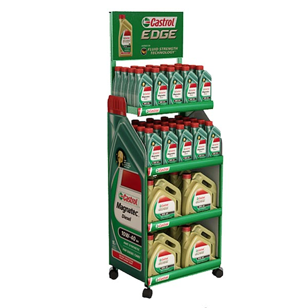 Top Quality Lube/Oil Display With Wheels