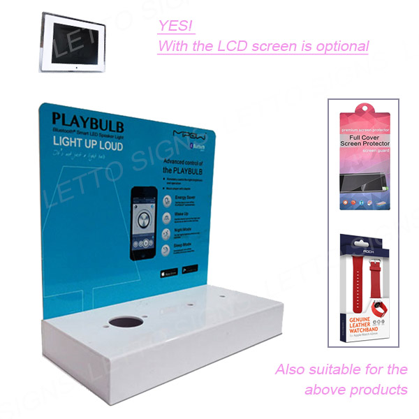 Top Quality Acrylic Retail Display Stands With lcd Screen For Screen Protector