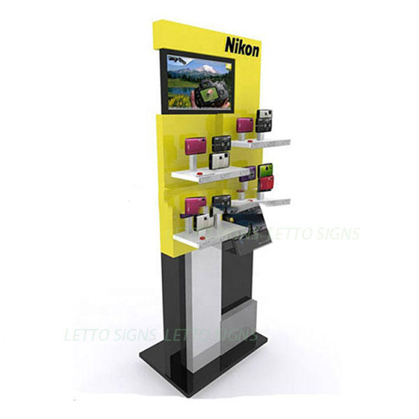 Custom pos & pop display fsdu store supply floor stand