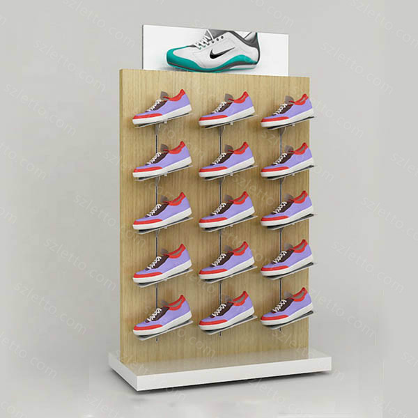 Free standing style pop up modern shoes display stand