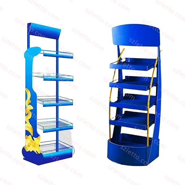 Hot Sale Product Grocery retail store Floor Stands Shelving Display Racks