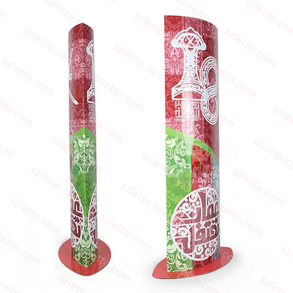 Promotion Corrugated Pop Cardboard Display Stand for Supermarket Merry Christmas