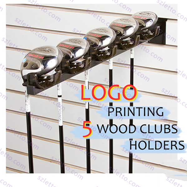 Slat wall mounted organizer vintage rack golf club wooden displays