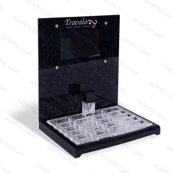 Black Acrylic Cosmetics Plexiglass Personal Care Product Perfume Perspex Display